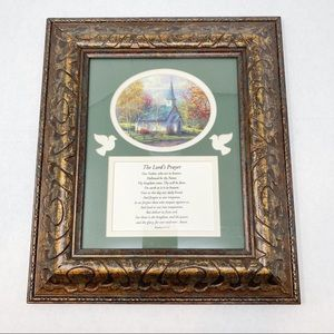 Lord's Prayer Framed Wall Art 12 x 15